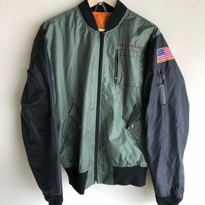 Other - Army Embroidered Green and Black Bomber Jacket